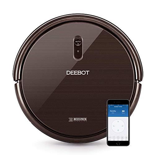 Ecovacs Deebot N79S - Robot Aspirador navegación aleatoria, App y Alexa, Wifi, 4 modos de limpieza, 2 niveles de succión, 60 dB, suelos duros y alfombras,...