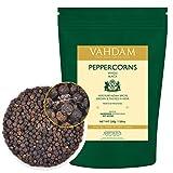 Granos de pimienta negra enteros, pimienta negra premium de alta calidad, 200 g, especias saludables para adelgazar, de las mejores plantaciones de pimienta...