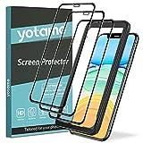 yotame [3 Piezas] Cobertura Completa Protector de Pantalla para iPhone 11/XR, [con Guía Marco] Cristal Templado iPhone 11 [9H Dureza] [Sin Burbujas] HD Vidrio...