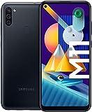 SAMSUNG Galaxy M11 | Smartphone Dual SIM, Pantalla de 6,4'', Cámara 13 MP, 3 GB RAM, 32 GB ROM Ampliables, Batería 5.000 mAh, Android, Color Negro [Versión...