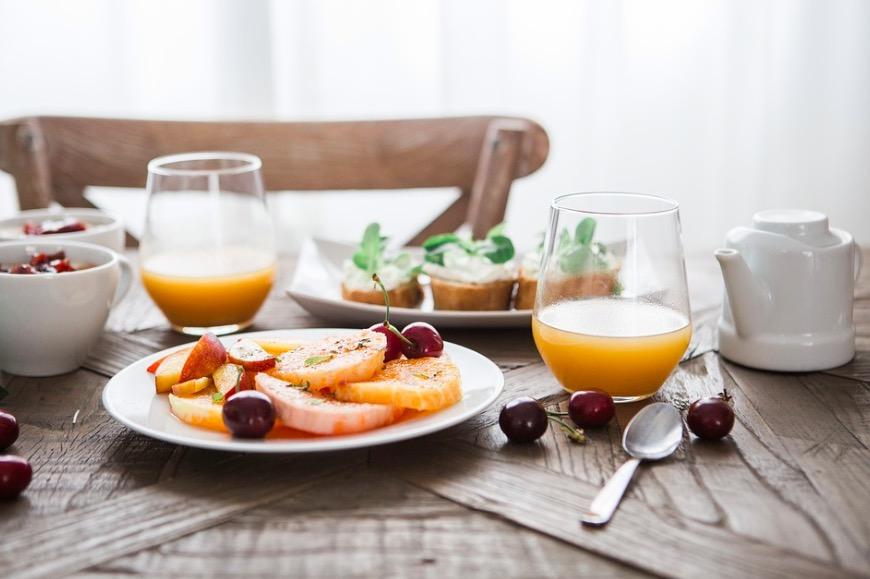 Desayuno de alimentos nutritivos