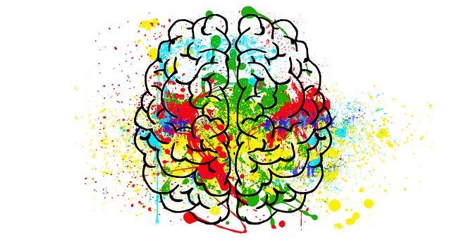 Dibujo mente diferentes colores