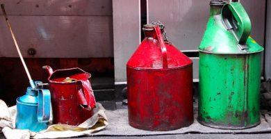 Garrafas aceite mineral y sentético
