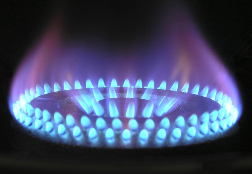 Llama de gas butano