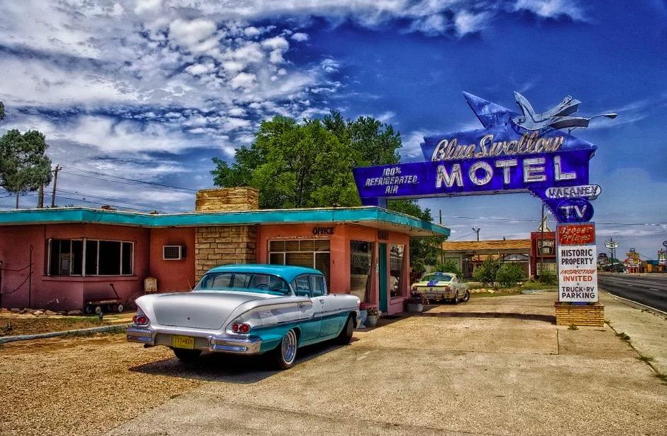 Motel típico de Estados Unidos