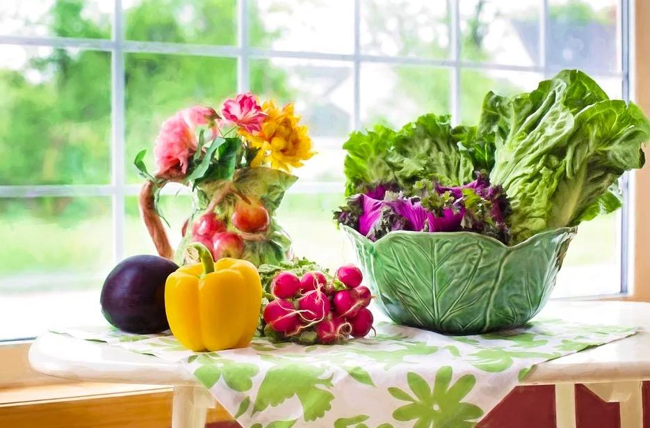 Cesta de verduras y hortalizas