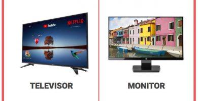 Diferencias entre televisor y monitor