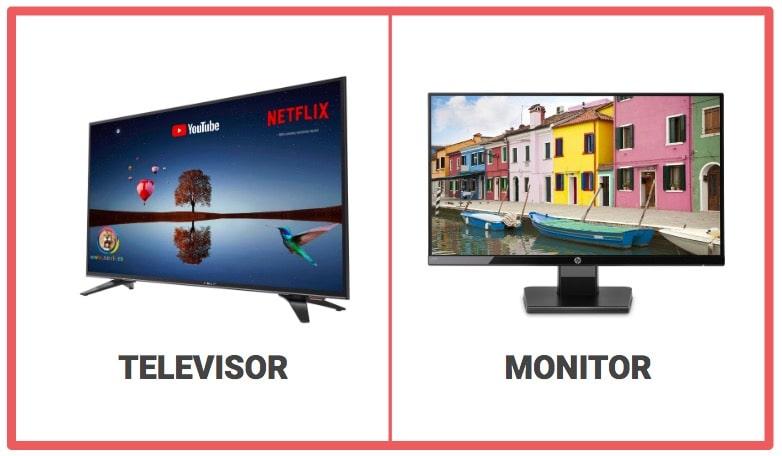 Diferencias Entre Televisor Y Monitor Tecnología