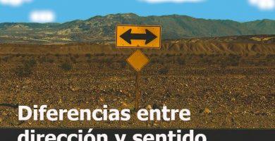 Señal de tráfico. Diferencia entre dirección y sentido