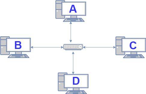 Red de 4 computadoras