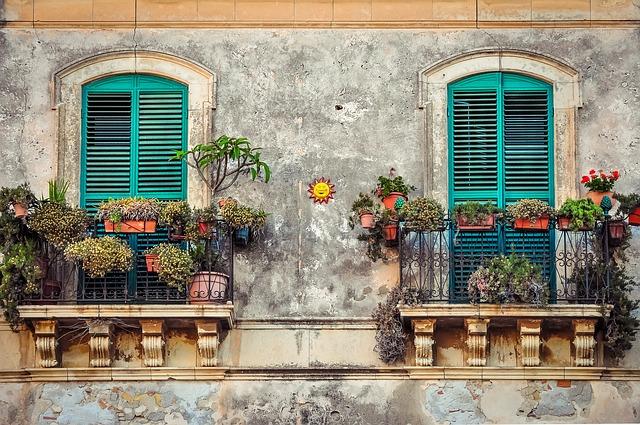 balcones de un piso