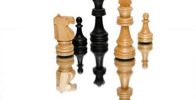 Fichas del juego de ajedrez