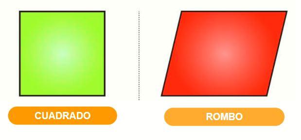 Diferencia entre cuadrado y rombo