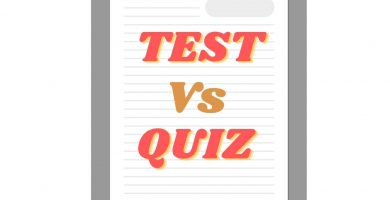 Diferencias entre test y quiz